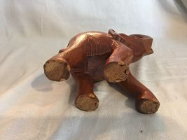 Handmade Wood Hand Carved Elephant Home Made Wooden Carving African Elephant image 5