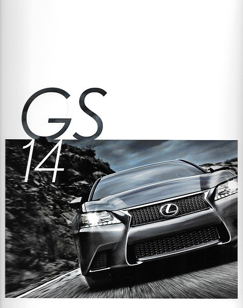 Primary image for 2014 Lexus GS 350 450h HYBRID brochure catalog 14 US F SPORT
