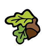 Harvest Festival Acorn Leaves-Digital Download-... - $3.00