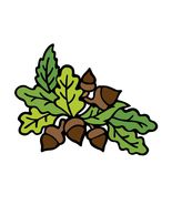 HarvestFestival Acorn FiveBrown-Digital Download-ClipArt-ArtClip-Digital... - $4.00
