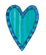 Harvest Festival Blue Line Heart-Digital Download-ClipArt-ArtClip-Digita... - $4.00