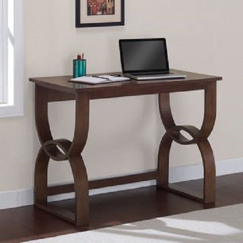 Wooden Dorm Furniture ~ Walnut contemporary desk computer writing desks office
