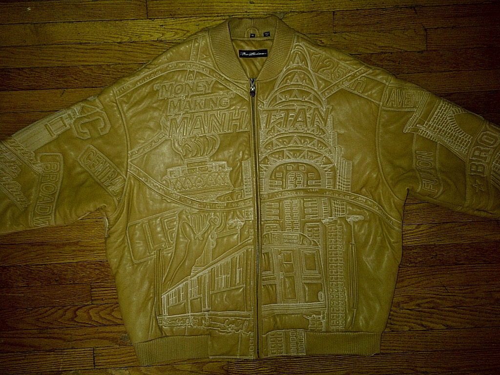 "Marc Buchanan Pelle NYC ""Money Makin Manhattan"" Hip Hop Urban Leather Jacket 56"