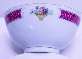Made In China Porcelain Rice Bowl With Floral Design - $1.95