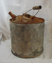Vintage McClary's Galvanized Metal Gasoline Kerosene Gas Jerry Can Woode... - $14.99