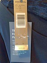Anne Klein Black Velvet & Rayon Cutout Long Formal Dress size S M NWT $225 DS7 image 6