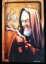 St. Padre Pio - 3D Lazar Cut Wood Plaque
