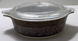 Vintage Pyrex Woodland Casserole Dish with Lid Holds 16 oz. - $8.00