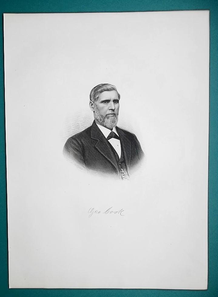 GEORGE COOK Ohio Buckeye Farm Machinery Manufacturer - 1881 Portrait Print