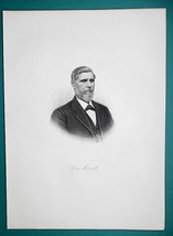 GEORGE COOK Ohio Buckeye Farm Machinery Manufacturer - 1881 Portrait Print - $16.20