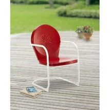Mainstays Retro C-Spring Outdoor Red Rocking Chair - $78.99