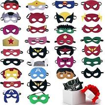 33pcs Superhero Masks Party Favors for Kids Cosplay Felt and Elastic - - £17.95 GBP