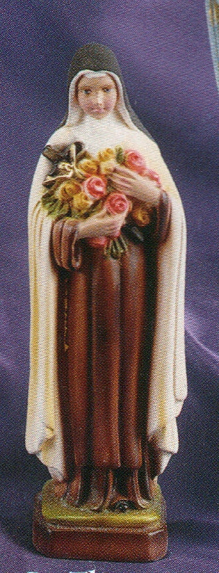 St. Theresa (Little Flower) - 8 inch Statue