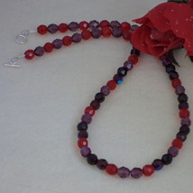 Czech Fire Polished Beaded Necklace With A Vari... - $25.00