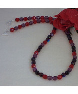 Czech Fire Polished Beaded Necklace With A Variety Of Colors   FREE SHIP... - $25.00