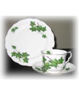 Royal Kent Bone China Cup, Saucer, Plate  IVY vintage - $27.99