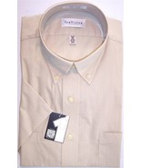NWT Van Heusen Tan/Beige Wrinkle Free 2 Pocket SS Dress Shirt, 16-16.5, ... - $21.99