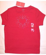 NWT Gymboree Girl's Red Rhinestone Top, Full of... - $9.99