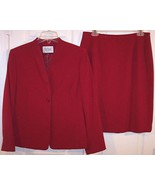Le Suit Petite Dark Red Fully Lined Suit, Missing Buttons, 10P - $21.99