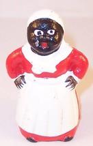 Small Cast Iron Black Americana Mini Mammy Figurine Still Bank - $16.99