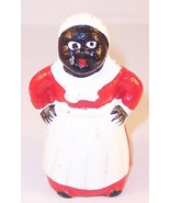 Small Cast Iron Black Americana Mini Mammy Figurine Still Bank - $16.99