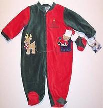 NWT Little Me My First Christmas Corduroy Velour Sleeper w/ Stocking, Unisex 24M - $14.99