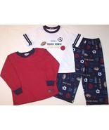 NWT Carter's Boy's 3 Pc. Football Basketball Soccer Sports Pajama Set, 4... - $9.99