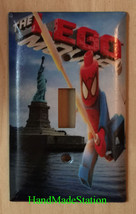 Lego Spiderman in NYC Liberty Light Switch Power Outlet Wall Cover Plate Decor image 1