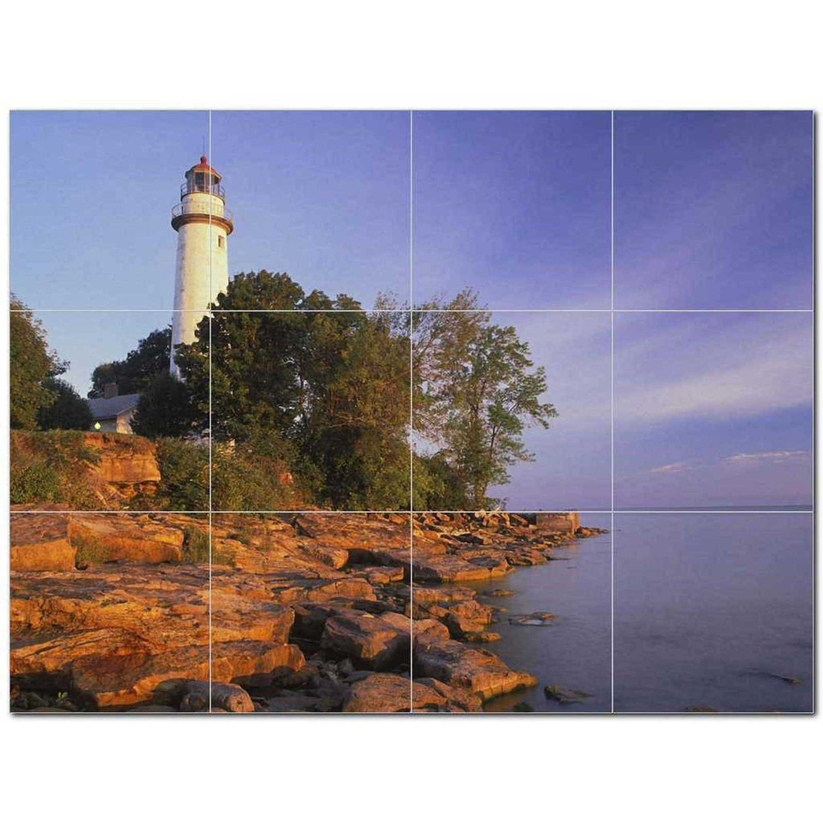 Primary image for Lighthouse Photo Ceramic Tile Mural Kitchen Backsplash Bathroom Shower BAZ405448