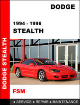 Details about  DODGE STEALTH 1994 - 1996 FACTORY SERVICE REPAIR WORKSHO... - $14.95