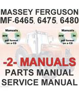 Massey Ferguson MF6480 MF 6480 Tractor SERVICE & PARTS Manual -2- MANUAL... - $32.98