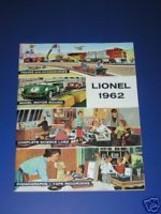 1962  LIONEL CATALOG- MINT - $17.99