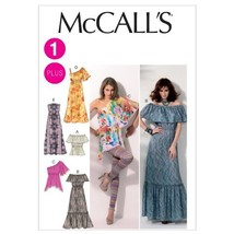 McCall's Pattern 6558 Misses Pullover Tops and Dresses with Variations S... - $10.78