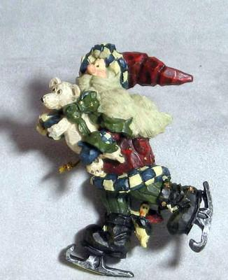 "Boyds Carvers Choice Ornament ""Santa..Quick As A Flash"" #370204-1E- NIB- Retired"