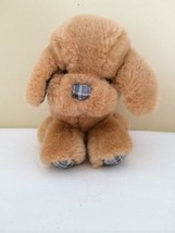"Vintage Gund Dogfeat Puppy Dog Plaid Paws Ears Nose 1983 7.5"" - $49.50"