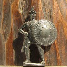 Spartan #1 Kinder Surprise Metal Soldier Figurine Vintage Toy 4 cm Gladi... - $16.82