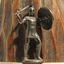 Spartan #2 Kinder Surprise Metal Soldier Figurine Vintage Toy 4 cm Gladi... - $16.82