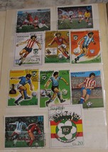 Vintage Paraguay Postage Stamps Lot Set Football Soccer World Championship - $9.85