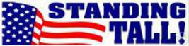 STANDING TALL 911 COMMEMORATIVE USA FLAG DECAL- AMERICAN FLAG DESIGN - $1.48