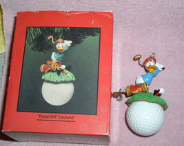 Disney Donald Duck Golfer Teed Off Donald Figuirine - $75.00
