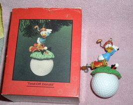 Disney Donald Duck Golfer Teed Off Donald Figuirine - $75.00