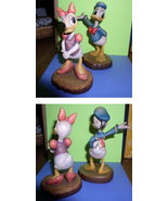 Disney Anri Wood Carving Daisy & Donald Duck - $500.00