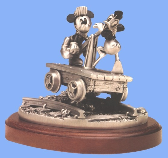 Disney Donald Duck & Mickey Mouse Train Car Figurine
