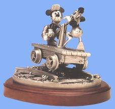 Disney Donald Duck & Mickey Mouse Train Car Figurine - $370.00
