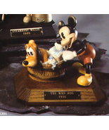 Disney Mickey & Pluto Anri Wood Carving LE MAKE OFFER - $500.00