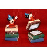 Disney Mickey Sorcerer Porcelain Hinged Box Figurine - $30.00