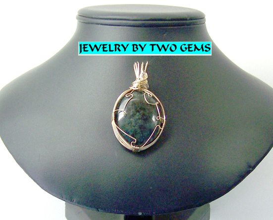 Jewelry By Two Gems (Wp30) 14k Gold Filled Wire Wrap Pendant of African Jasper