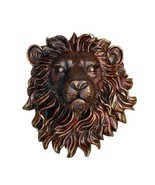 AWESOME BRONZE RESIN LIONS WALL PLAQUE,18'' X 8'' X 20''H. - £150.66 GBP