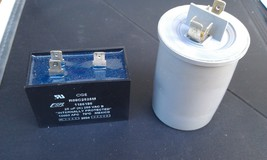 9Q09 CAPACITORS, 250V CLASS, 2 PK: 25 / 24.6MF, 15 / 14.5MF, VERY GOOD C... - $19.00