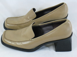 Dockers Light Brown Leather Heeled Loafer Shoes 7.5 M US Excellent Condi... - $18.69